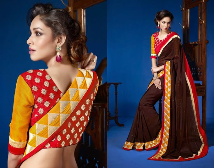 Traditional Bollywood Designer New Saree Sari Indian Wedding Party
