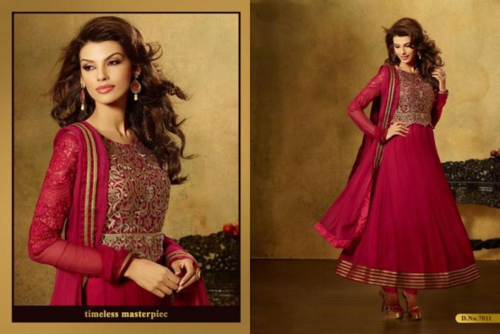 Designer Pakistani Burgundy Shade Anarkali Suit Long