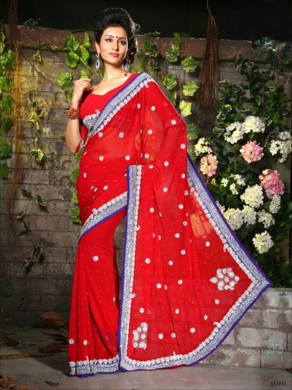 Designer Silk Saree Ethnic Indian Bridal Party Designer Wedding