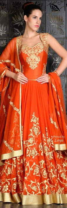 For replica visit www.zifaaf.com or mailto zifaafstudio@Gmail.com Anarkali 2015, Anarkali Orange, Bridal Chaniya Choli, Beautiful Color, Indian Fashion, Indian Style, Indian Bridal, Blouse Styles, Anarkali Dress 6 comments pinterest.com in. 