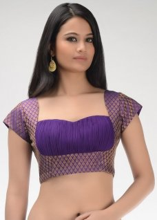 Designer Saree Blouses ruched saree blouse with perfect fitting #DesignerSareeBlouses
