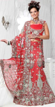 Attractive Designer Red Net Lehenga Indian Bridal Engagement Lehengas LTG6000-28 #sand | ebay