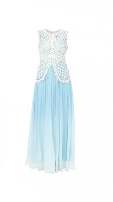 Panisha's new Latest Indian Pakistani Designer Anarkali Aqua Ombre Gown With ... #light_gray