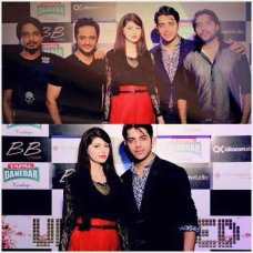 Yes, all these Pakistani celebrities are at the launch of Jal Music Video named by Teri baajon! Ayesha khan was there in this music video launch wearing t- shirt and loose black trouser, she was giving a casual look in this event. 