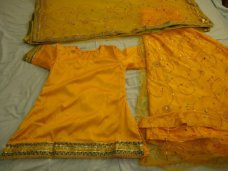 Yellow sharara with light work,once used. #light_brown | ebay