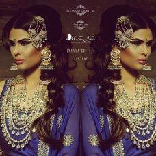 RUKSAT #repost our collab with the stunning @poonamskaurture #model #brains & #beauty behind her #kaurtureline #totallyinlove with all her designs #makeup by the #talented @malikajafrin The girl with the most amazing hair can only be @shamalahhairstylist Cannot forget the man behind this amazing #concept #shoot @contentphotography #jewellery #jewels #thatmala yes.. By #innayacouture #violet | instagram