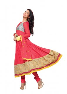 Indian Pakistani Bollywood Designer Anarkali Salwar Kameez Suits ETHNIC EHS #coral | ebay