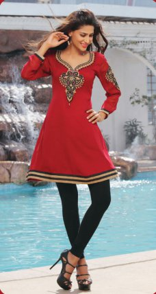 Indian Bollywood shalwar Kurta Pakistani Embroidered Designer Casual Wear Kurti #ruby | ebay