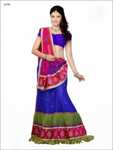 New Elegant Blue Net Lehnga Choli Amazingly Indian Stylish Wedding Women Dresses #violet | ebay