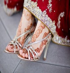 Fashionable Indian Bridal High Heel Shoes #taupe | Ananya