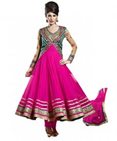 Indian Pakistani Bollywood Designer Anarkali Salwar Kameez Suits ETHNIC EHS #magenta | ebay