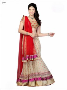 DESIGNER Indian Bridal Wedding Lehnga Lehanga Red & Beige Lehenga Cholis Sarees #magenta | ebay