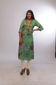 Cultural Womens Indian Bollywood Designer Kurta Kurti Ethnic Tunic Top KF-4589