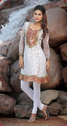 Indian Bollywood shalwar Kurta Pakistani Women Top Casual Wear Kurti #light_gray | ebay