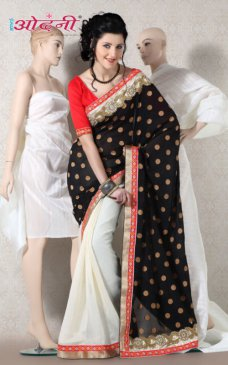 Exclusive Traditional Indian Designer Party Wear Georgette Wedding Sarees Sari #black | ebay
